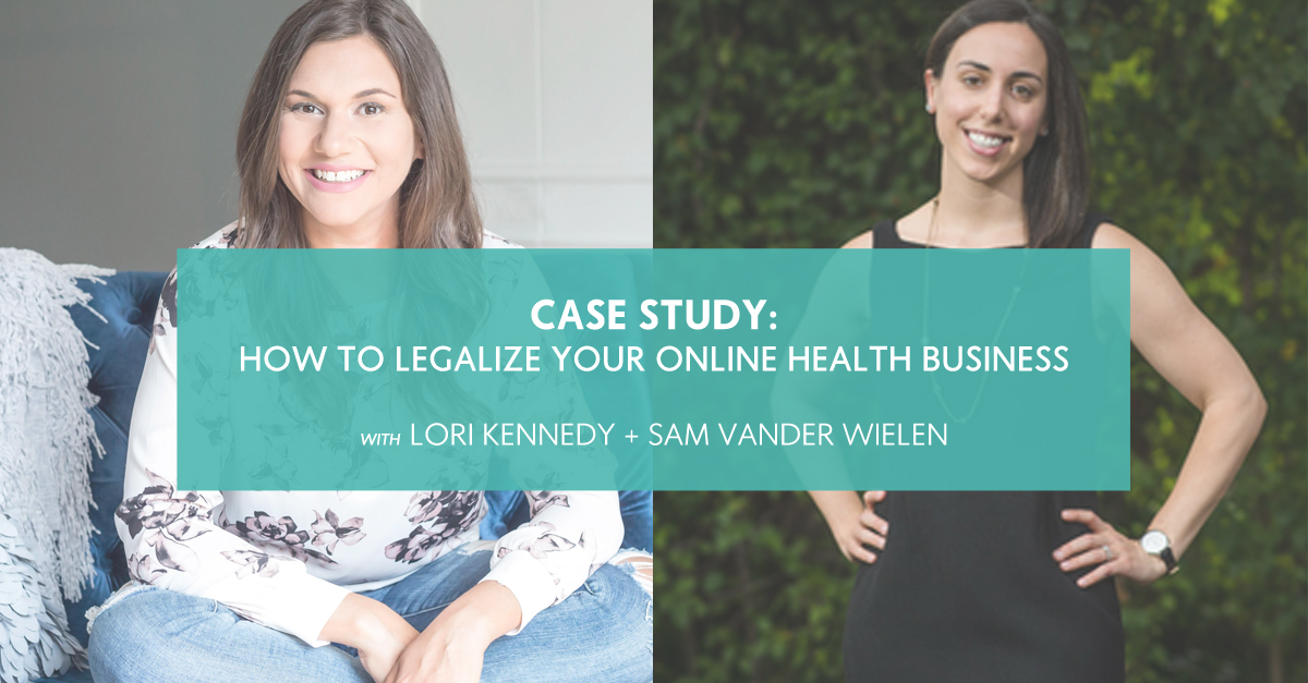 Case Study: How to Legalize Your Online Health Business